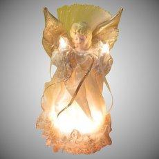 Kurt s Adler Lighted Porcelain head Angel tree Top - b271