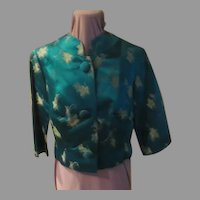 Terrific Teal Embroidered Shorty jacket