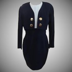 Navy Brass Dress with Jacket