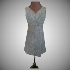Tufted Brocade Skimmer Dress
