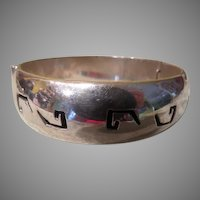 Extra Heavy Solid Silver Bangle Bracelet - Free Shipping