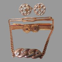 Swank Bead Accent Cufflinks and Tie Bars - free shipping
