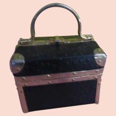 "Borsa Bella Latch Top ""Trunk'' Handbag/purse - b262"