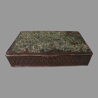 Crushed Stone Mosaic Top Brass Box - b262