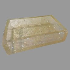 Clear Lucite with Confetti Open Box - b277