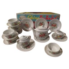 China Toy Tea Set for 6 in Box - b277