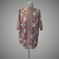 Boldly Printed Placket Front Shirt