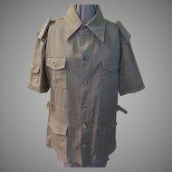 Khaki Short Sleeve Safari Shirt