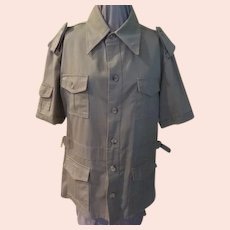 Khaki Short Sleeve Safari Shirt