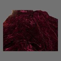 Burgundy Crushed Velvet - g