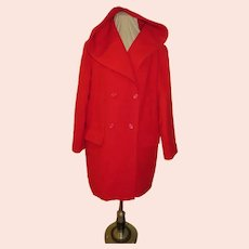 Double Breasted Red Riding Hood Coat
