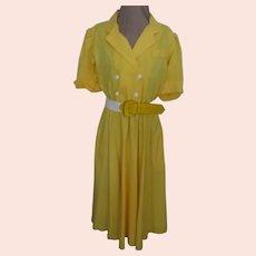 Sunny Yellow Shirtwaist Dress