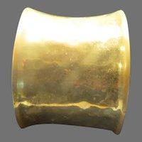 Hammered Brass Cuff Bracelet - Free shipping - br