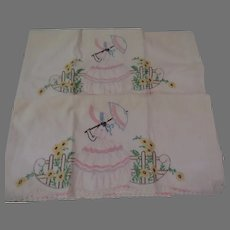 Girl with Parasol Pillow Cases - b299