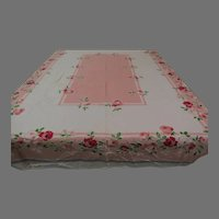 Pink Roses Tablecloth - b299