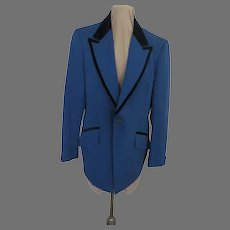 After 6 Velvet Trim Blue Tuxedo Jacket