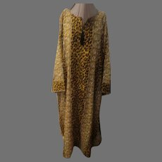 Plus Size Leopard Print Caftan