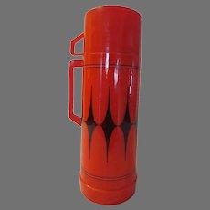 Aladdin 1 Quart Red/black Thermos - b296