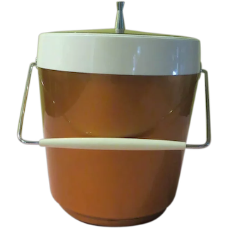 West Bend Thermo serve Coppertone Ice Bucket - g