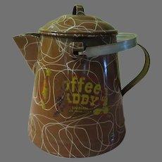 "Brown enamel ""Coffee Caddy"" Coffee Pot - g"