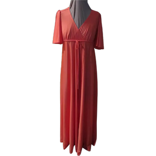 Orange Ya Glad Wrap bodice Dress - g