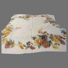 Gold and Brown Mums the Word Tablecloth - l3