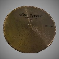 Jannhauser Music Box Disc