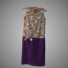 Flowers over pleats Dress
