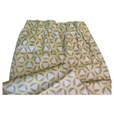 Triangles inside Circles Geometric design Pinch Pleat Drapes - b278