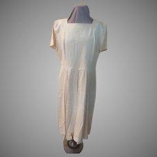 Pale Yellow Chiffon Insert Dress