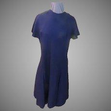 Crisp Navy Linen Dress
