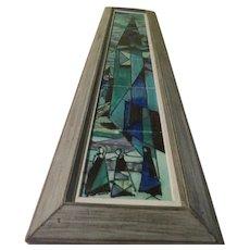Harris G. Strong Mid-century Framed Fired Ceramic Tiles