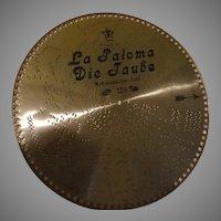 La Paloma Die Jaube Swiss Music Box Disc #120