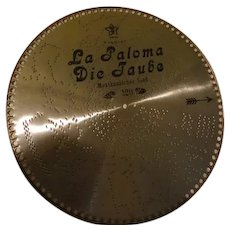 La Paloma Die Jaube Swiss Music Box Disc #120