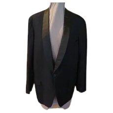 Skinny Satin Lapel Tux Jacket