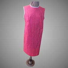 Outlined in White Hot Pink Dress/shift