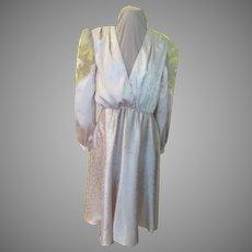 Appliqued Sleeve Wrap Top Dress