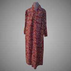 Zip Front Caftan Lounging Robe
