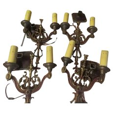 Double Light Polychrome Wall Sconces - b275