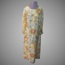 Sunny Yellow Print Dress