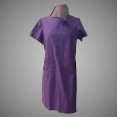 A Notch Above Purple Short Sleeve Dress