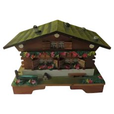 Wood Chalet Jewelry Box with Music - x-b-18