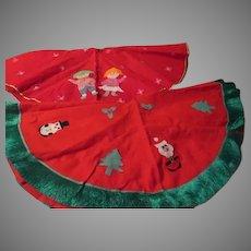 Felt Appliques Christmas Tree Skirts - b279
