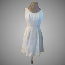 White with Daisy Trim Sundress