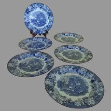 Enoch Woods English Scenery 9'' luncheon Plates - b274