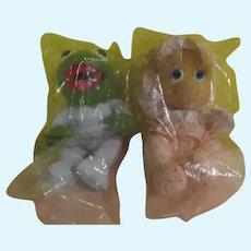Hasbro Softies Mupper Babies Kermit and Miss Piggy - b270