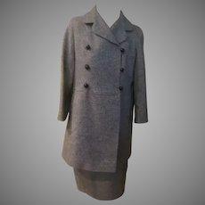 Shorty Black Tweed Jacket with Skirt