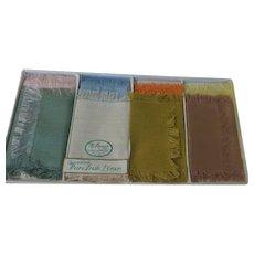 Pure Irish Linen Hankies/napkins in Box - b271