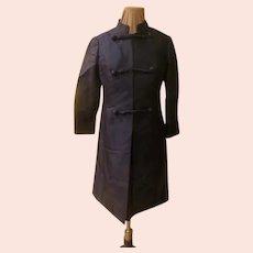 Navy Silk Dress and Coat Ensemble