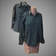 Osh-Kosh B'Gosh Best Prest Green Work Shirts